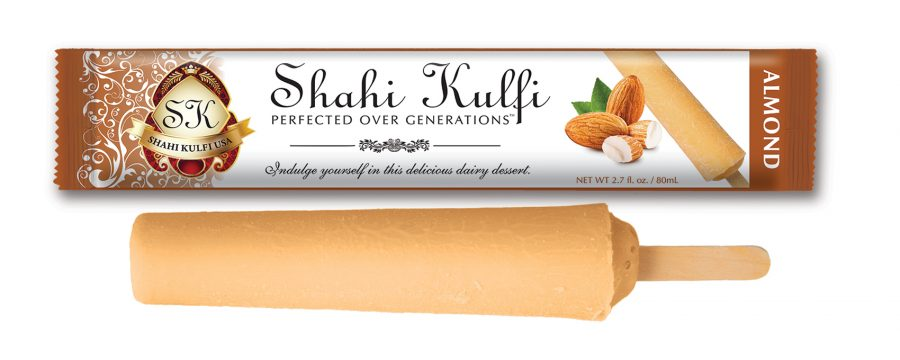Almond Kulfi with Wrapper