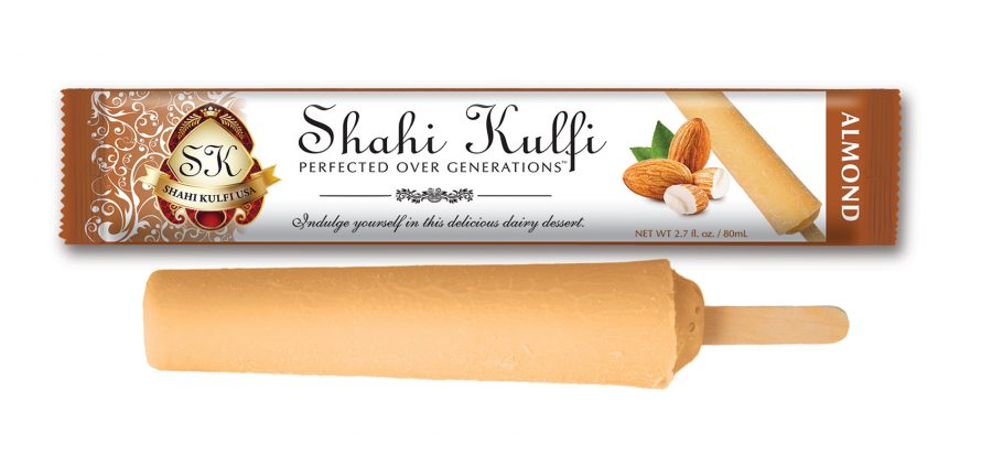 Almond Kulfi with Wrapper