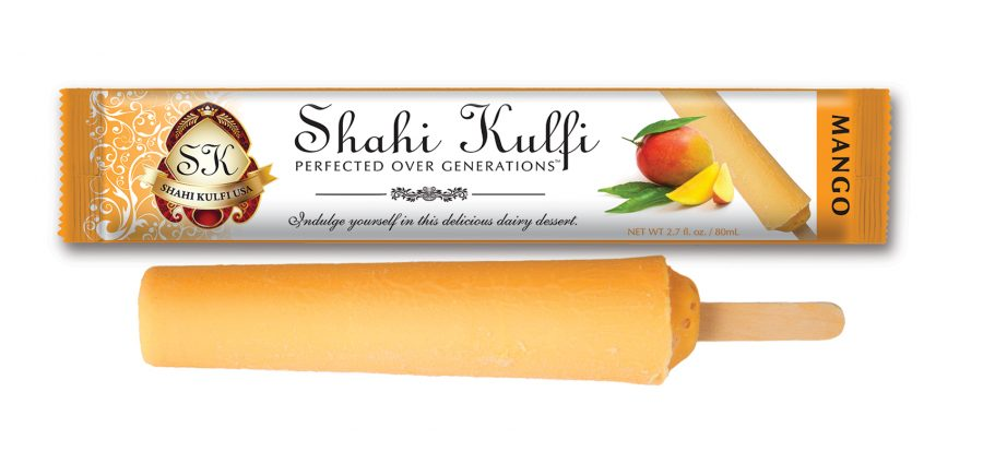 Mango Kulfi with Wrapper